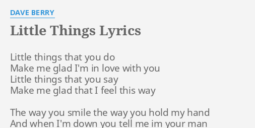 The things you do for love lyrics