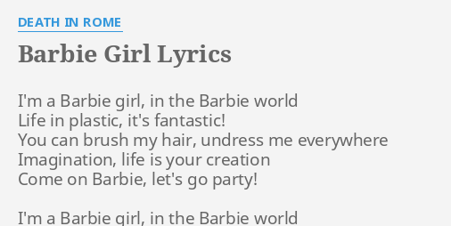 barbie lyrics