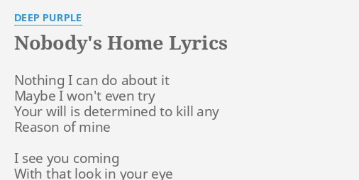 Deep purple picture home lyrics