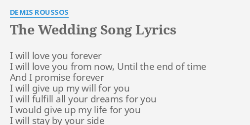 Love of my life the wedding song lyrics