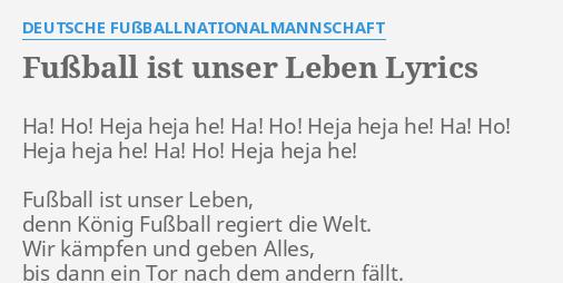 Fussball Ist Unser Leben Lyrics By Deutsche