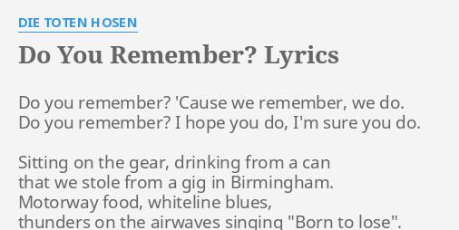 die toten hosen steh auf lyrics