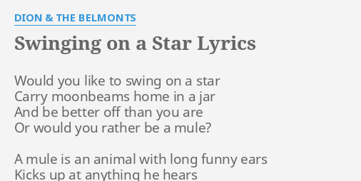 Swinging on a starlyrics