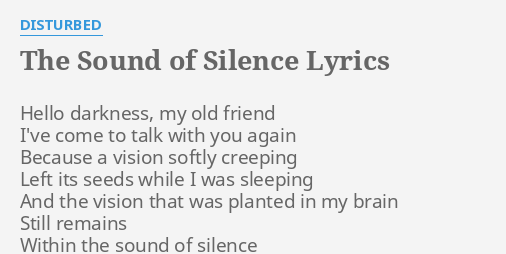 Essay: The sound of silence