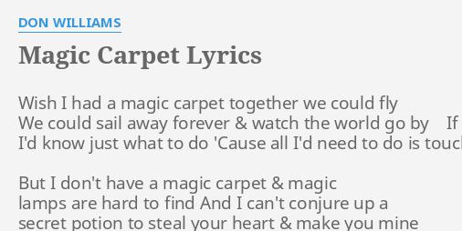 if i had a magic carpet