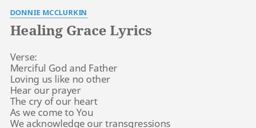 God is a healer lyrics