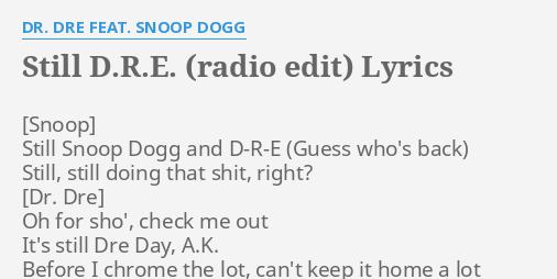 STILL D R E  (RADIO EDIT)