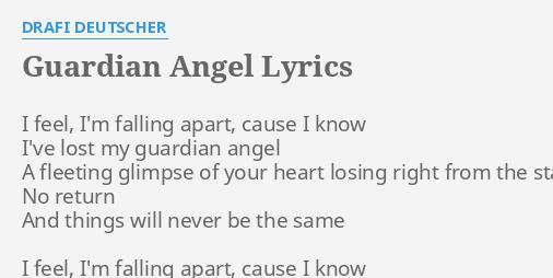 Guardian Angel Lyrics By Drafi Deutscher I Feel Im Falling