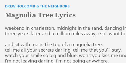 Magnolia Tree Lyrics By Drew Holcomb The Neighbors Weekend In