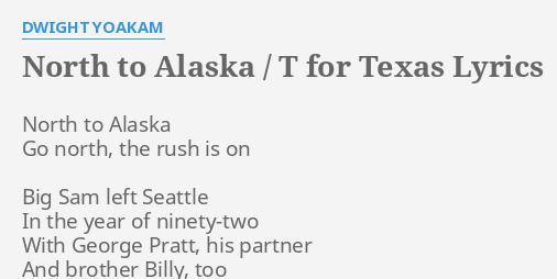alaska the t lyrics