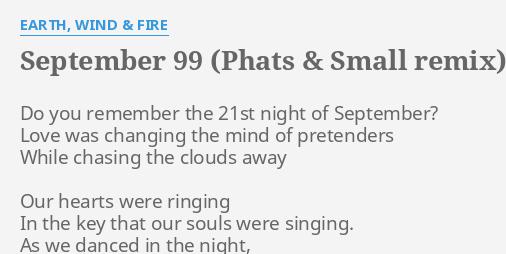 SEPTEMBER 99 (PHATS & SMALL REMIX)