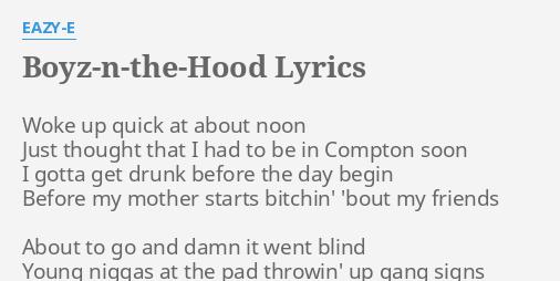 eazy e boyz in the hood instrumental mp3