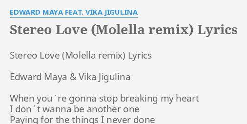 STEREO LOVE (MOLELLA REMIX)