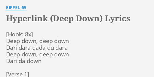 HYPERLINK (DEEP DOWN)