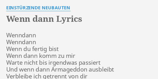 wann dann lyrics