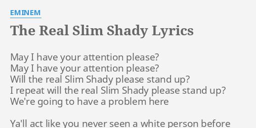 THE REAL SLIM SHADY