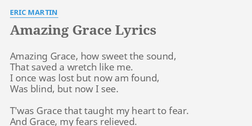 photograph about Amazing Grace Lyrics Printable known as Remarkable GRACE\