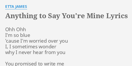 say your mine
