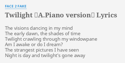 TWILIGHT ~A PIANO VERSION~