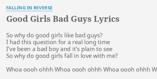 girls like bad guys