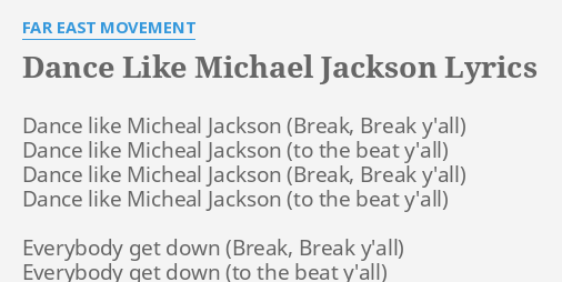 DANCE LIKE MICHAEL JACKSON