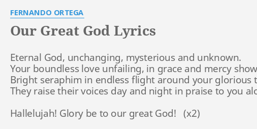 Glory be to our great god lyrics