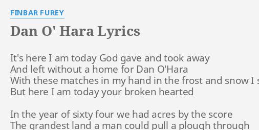 DAN O' HARA