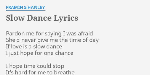 SLOW DANCE\