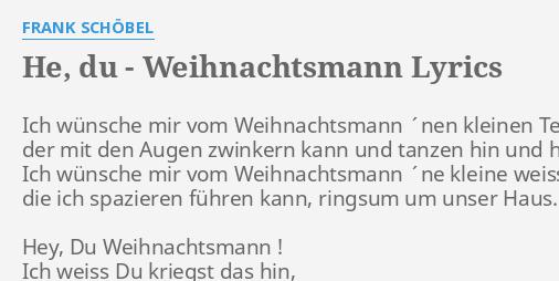 HE, DU - WEIHNACHTSMANN\
