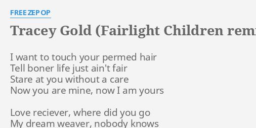 TRACEY GOLD (FAIRLIGHT CHILDREN REMIX)