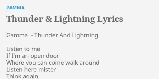 AC/DC - Thunderstruck Lyrics - YouTube