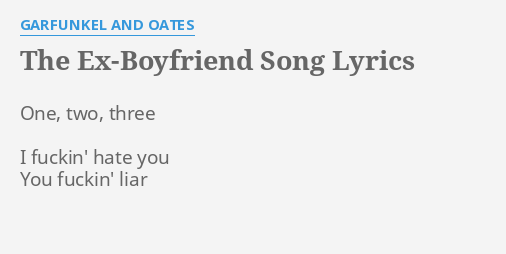 The ex lyrics