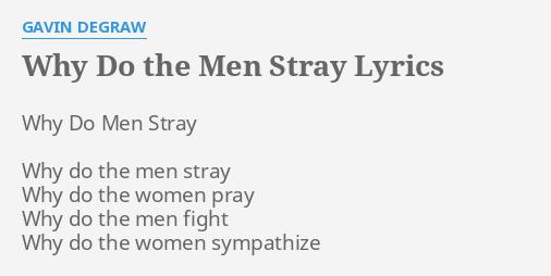why do women stray