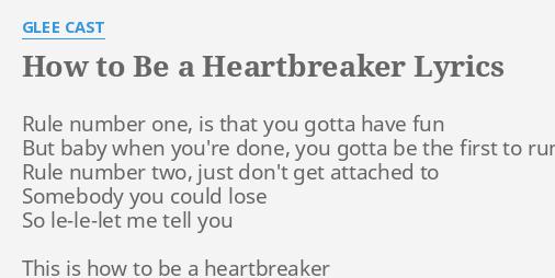 How to be a heartbreaker lyrics