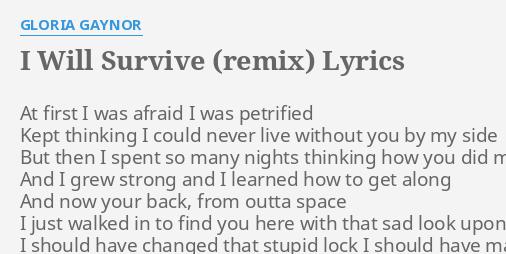 i will survive «i will survive (original version)» by gloria gaynor.