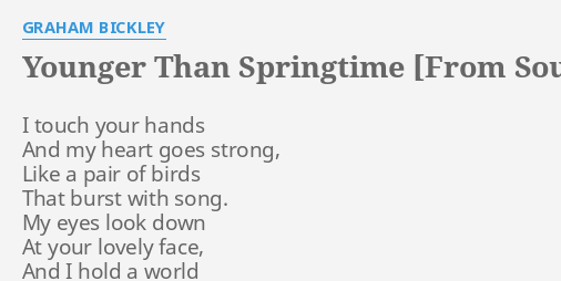 YOUNGER THAN SPRINGTIME [FROM SOUTH PACIFIC]
