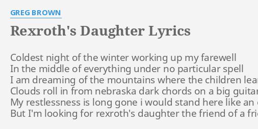 REXROTH\'S DAUGHTER\
