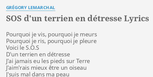Sos D Un Terrien En Détresse Lyrics By Grégory Lemarchal Pourquoi Je Vis Pourquoi