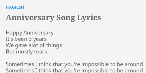 lyrics to happy anniversary song