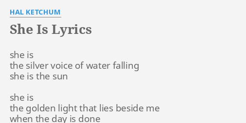 she is lyrics by hal ketchum she is the silver she is lyrics by hal ketchum she is