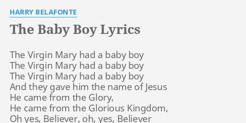 baby boy lyrics