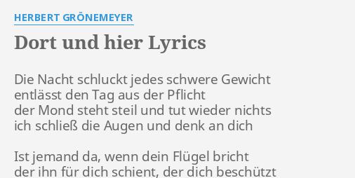 herbert grönemeyer männer lyrics