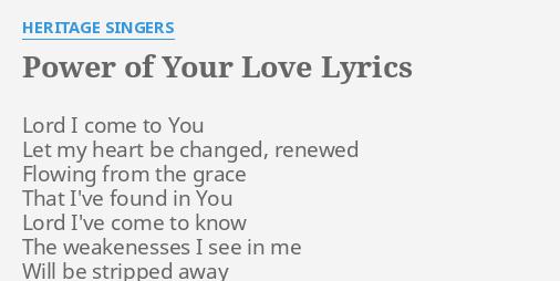 To your love lyrics