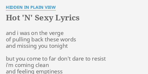 Sexy words that start with n