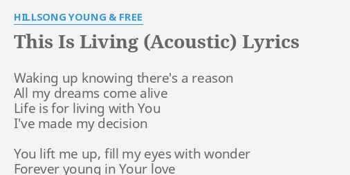hillsong young and free sinking deep