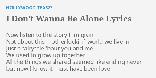 We used to have it all lyrics alone