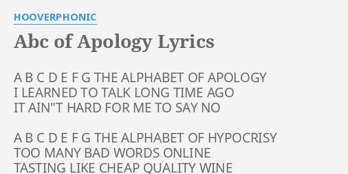 Apologies Hypocrisy / A Lyrical Year