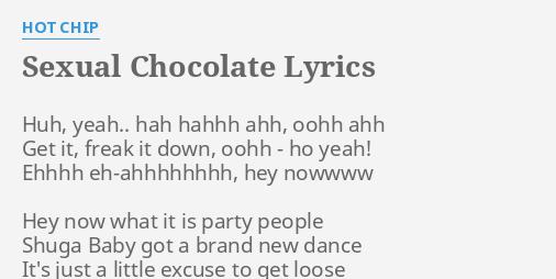 Sexual chocolate lyrics