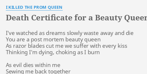 Andere songtexte von I Killed The Prom Queen