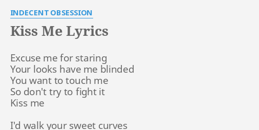 So kiss me lyrics